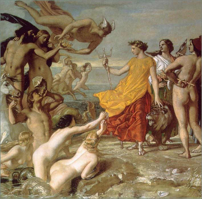 Neptune Resigning To Britannia The Empire Of The Sea. William Dyce