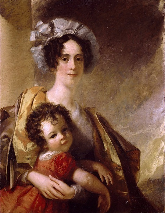 Mrs John Clerk Maxwell (neé Frances Cay) and her Son James. William Dyce