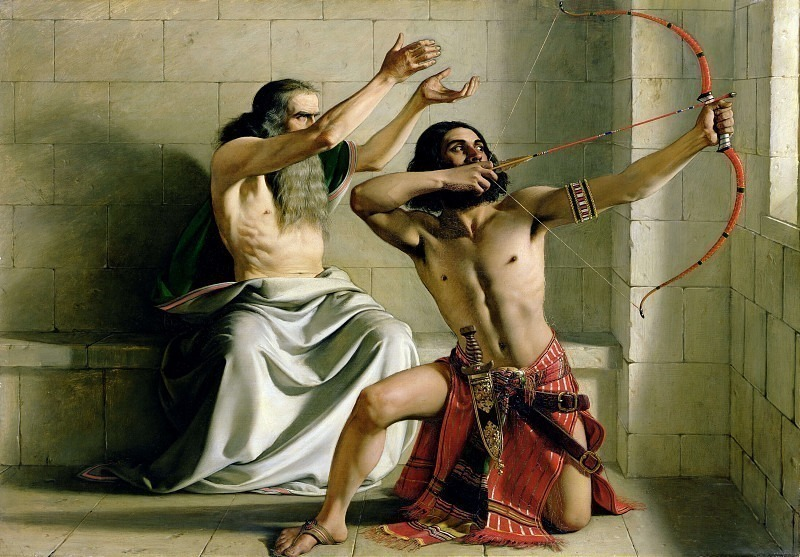 Joash Shooting the Arrow of Deliverance. William Dyce