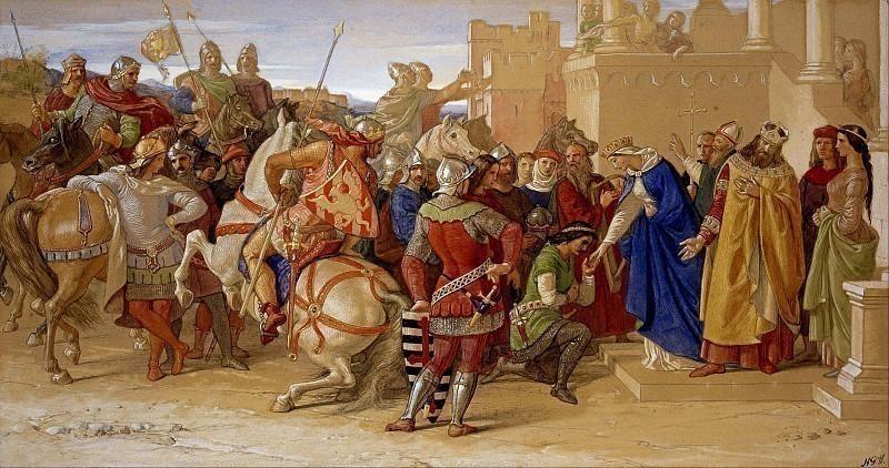 Piety: The Knights of the Round Table about to Depart in Quest of the Holy Grail. William Dyce