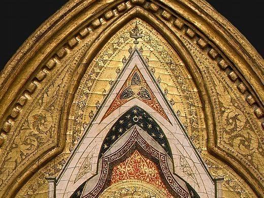 Madonna and Child with Saints and Angels, 1330s, Det(1. Bernardo Daddi