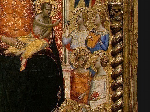 Madonna and Child with Saints and Angels, 1330s, Det(7. Bernardo Daddi