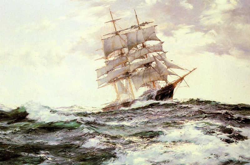 The New Englander The Forest Queen Of Boston. Montague Dawson