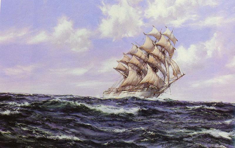 The Abner Coburn. Fair Weather. Montague Dawson