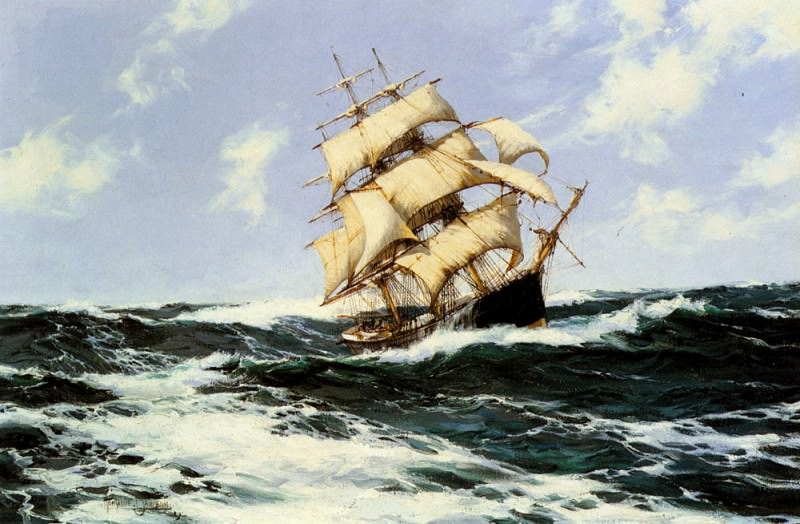 The Pacific Combers On The Open Seas. Montague Dawson