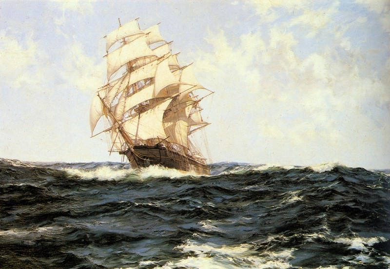Pacific Rollers. Montague Dawson
