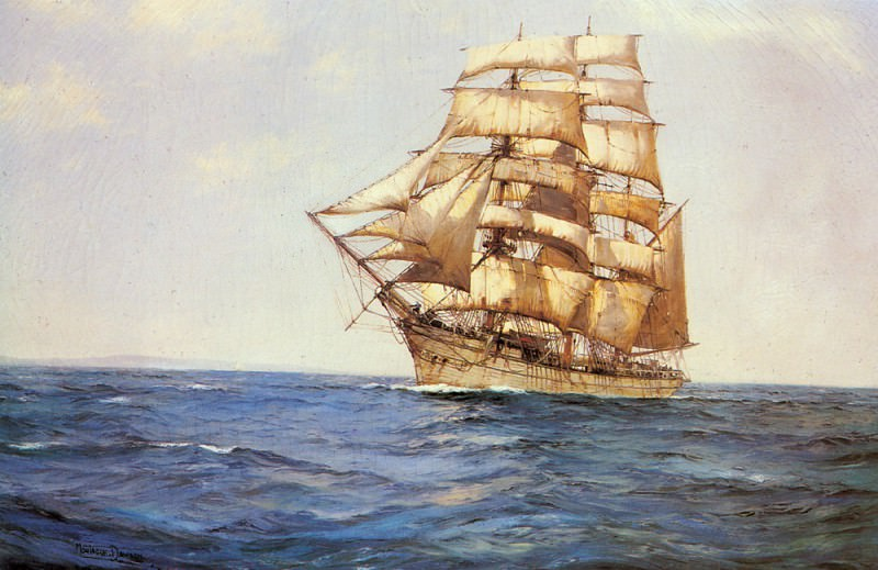 The Old White Barque. Montague Dawson