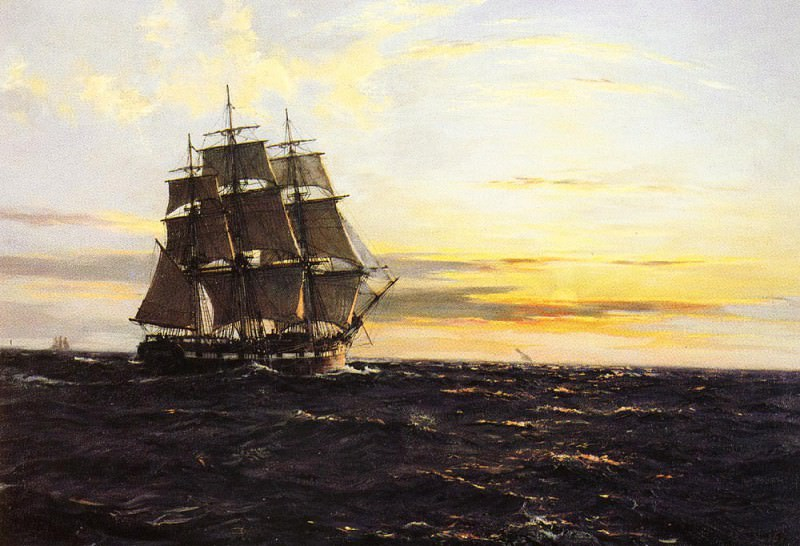 Into The Westerly Sun. Montague Dawson