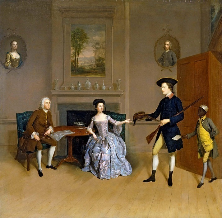 John Orde, with his wife Anne, and his eldest Son. Arthur William Devis