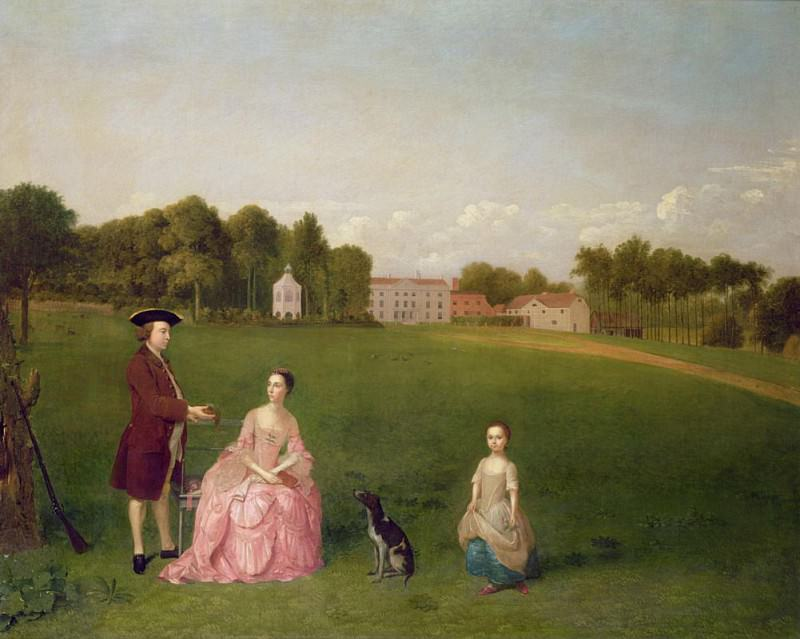 The Cropp Family of Shudy Camps Park, Cambridge. Arthur William Devis