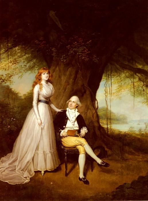 Portrait Of Robert Grant And His Wife Elizabeth. Arthur William Devis