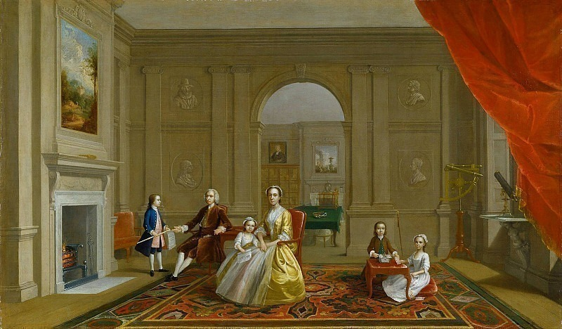 The John Bacon Family. Arthur William Devis