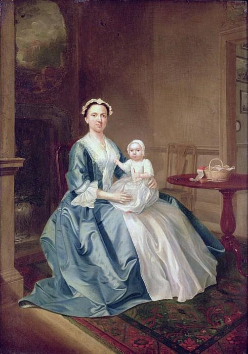 Портрет дамы из семьи Листер, с ребёнком. Артур Уильям Дэвис