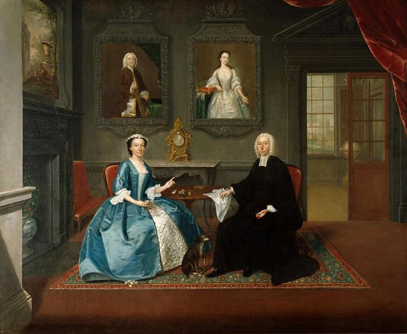 Reverend Streynsham Master and his wife, Margaret of Croston, Lancashire. Arthur William Devis
