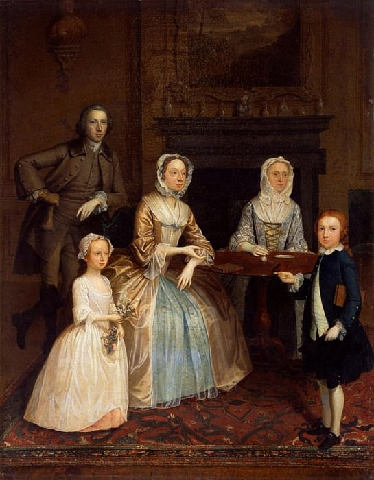 Mr and Mrs Richard Bull and family. Arthur William Devis