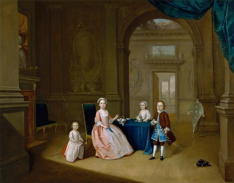 Children in an Interior. Arthur William Devis