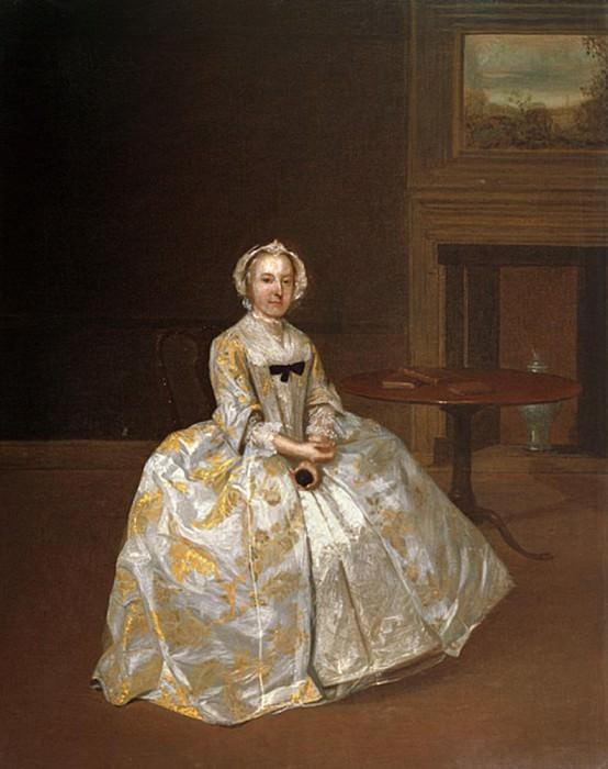 Portrait of Miss Elizabeth Hemyng. Arthur William Devis