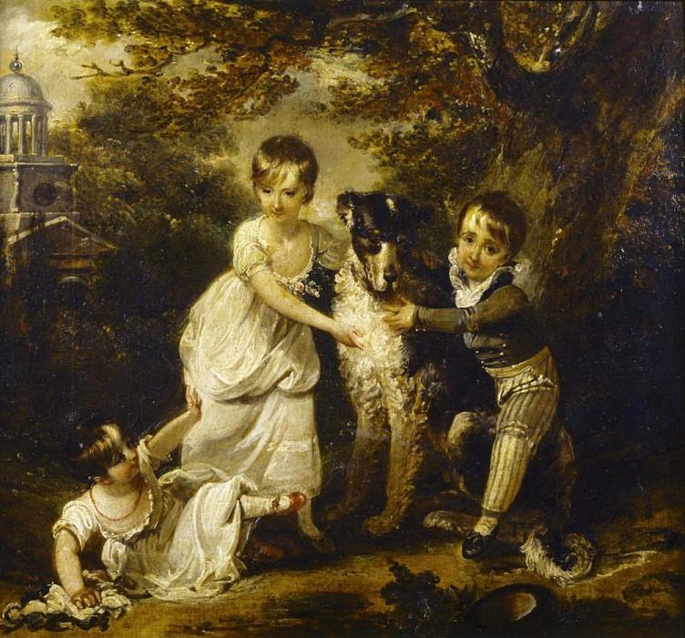 Family portrait of Sir John Trevelyans children. Arthur William Devis