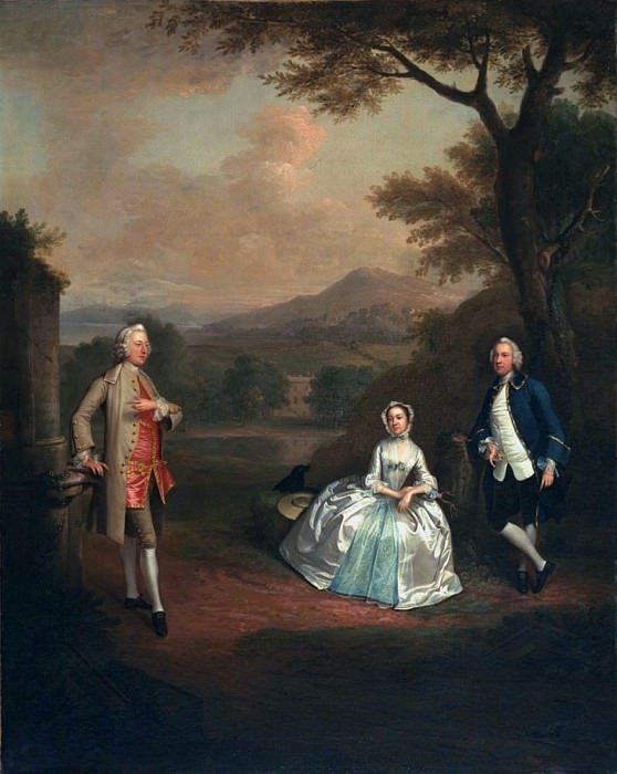 Sir George Lyttelton, Bart., with Lt. Col. Richard Lyttelton and Rachel. Arthur William Devis