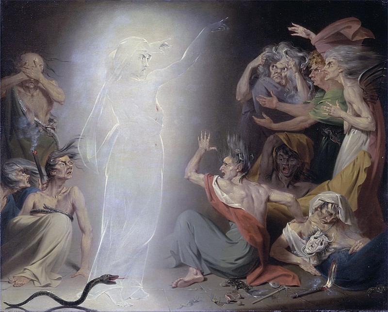 The Ghost of Clytemnestra Awakening the Furies. John Downman