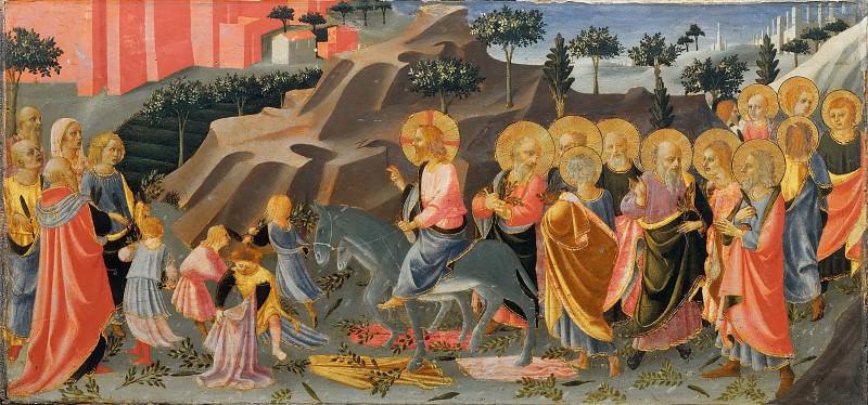 Entry of Jesus into Jerusalem. Domenico di Michelino