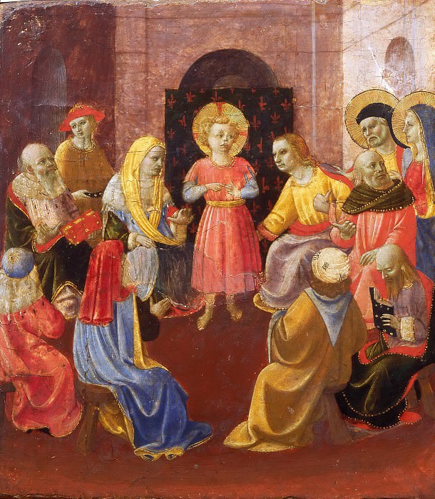 Jesus among the Doctors. Domenico di Michelino