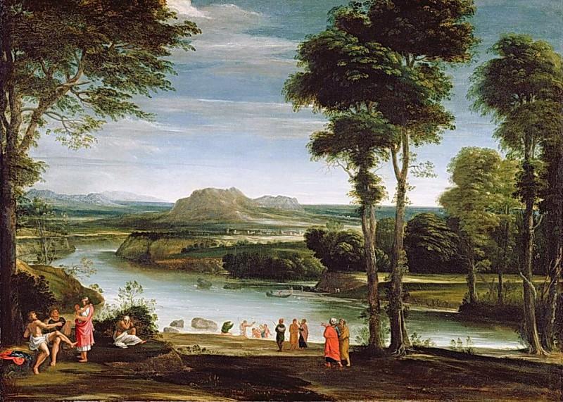 Landscape with St. John Baptising. Domenichino (Domenico Zampieri)