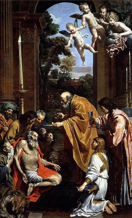 Последнее причастие святого Иеронима. Доменикино (Доменико Зампьери)