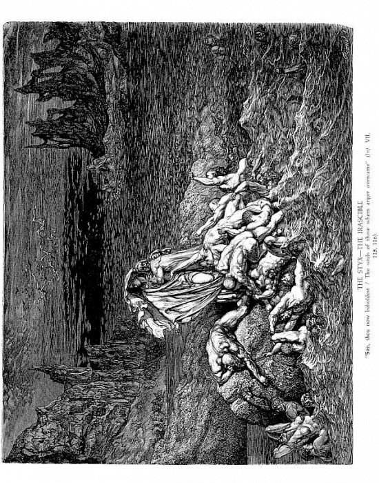 The Styx The Irascible. Gustave Dore