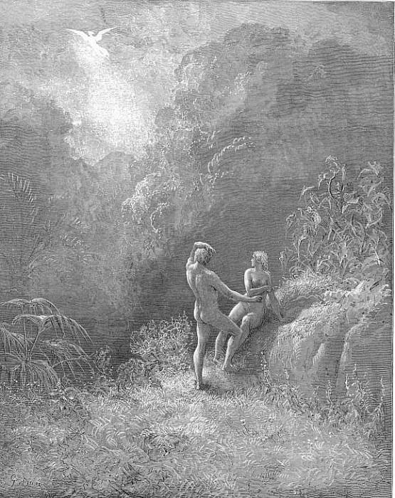 So parted they the Angel up to heaven From the thick shade and Adam to his bower. Gustave Dore