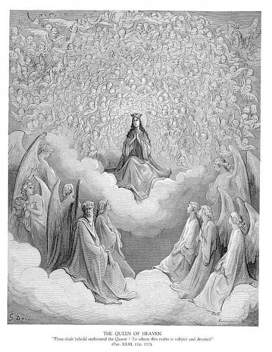 The Queen of Heaven. Gustave Dore