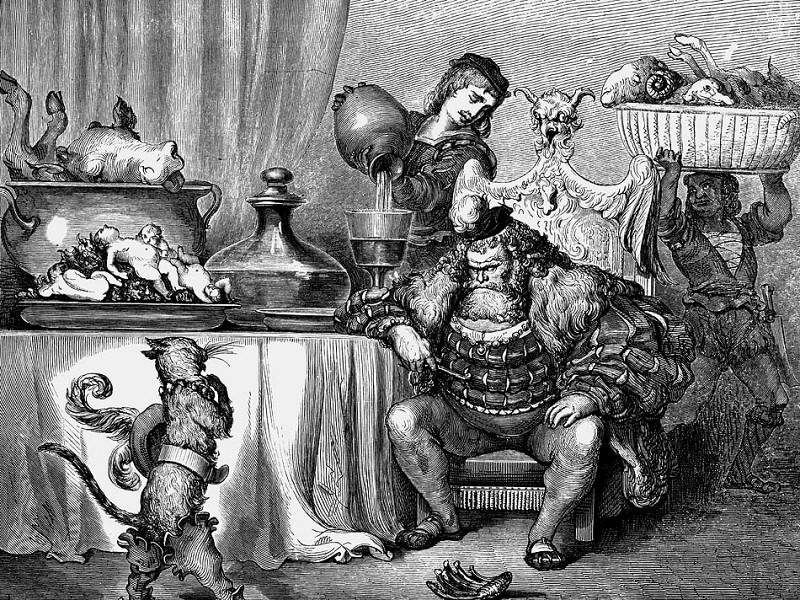 The Ogre Received Him As Civilly A sAn Ogre Can. Gustave Dore