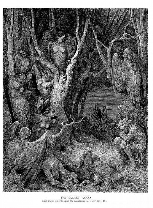 The Hapies Wood. Gustave Dore