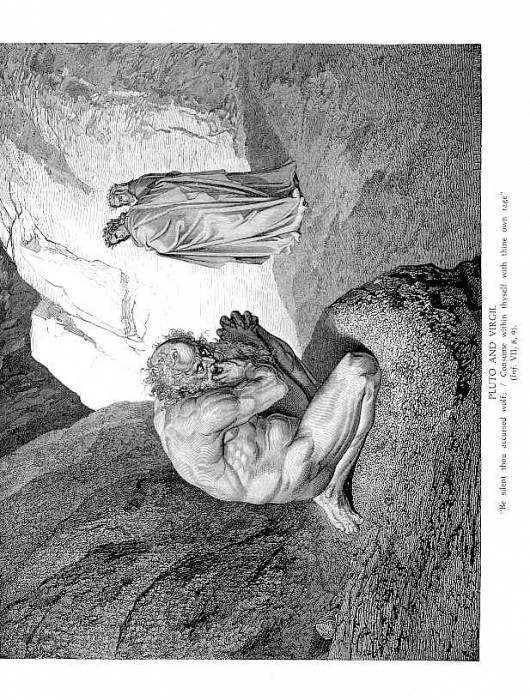 Pluto and Virgil. Gustave Dore