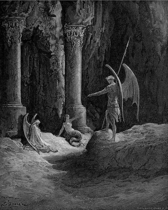 paradise lost. Gustave Dore