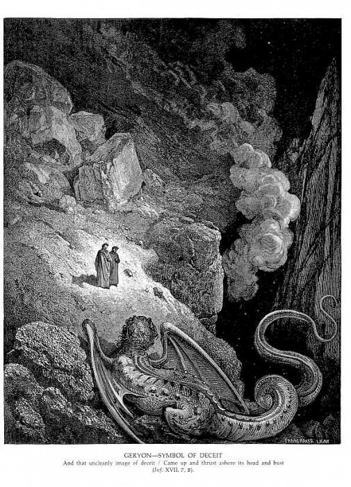 Geryon Symbol of Deceit. Gustave Dore
