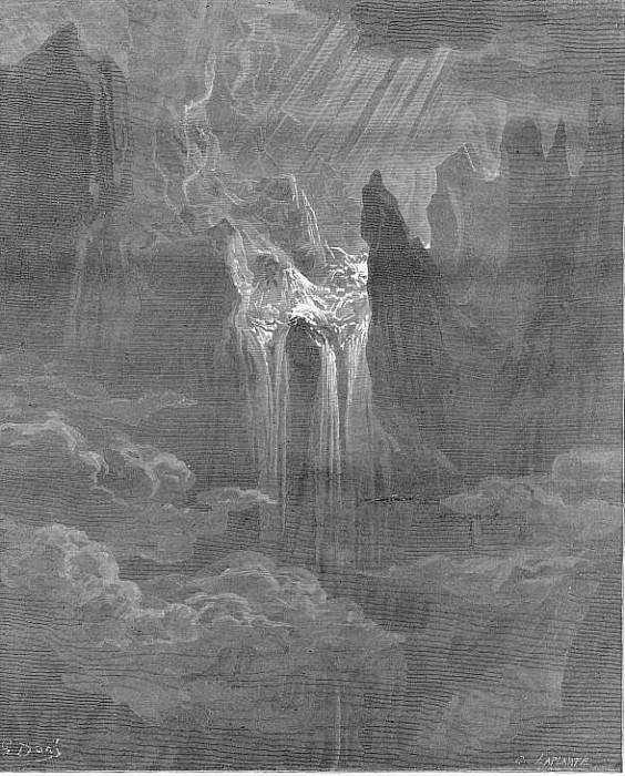 Wave rolling after wave where way they found If steep with torrent rapture. Gustave Dore