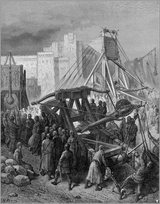 crusades war machinery. Gustave Dore