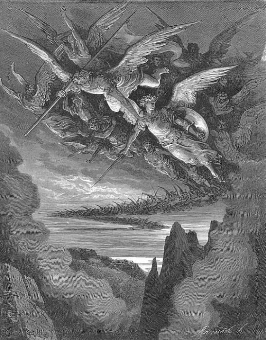 So numberless were those bad Angels seen Hovering on wing under the cope of Hell. Gustave Dore
