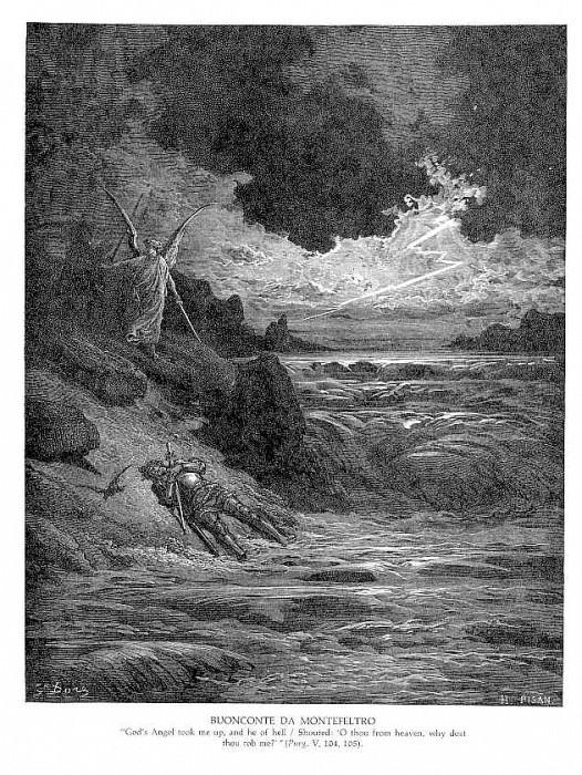 Buonconte Da Montefeltro. Gustave Dore