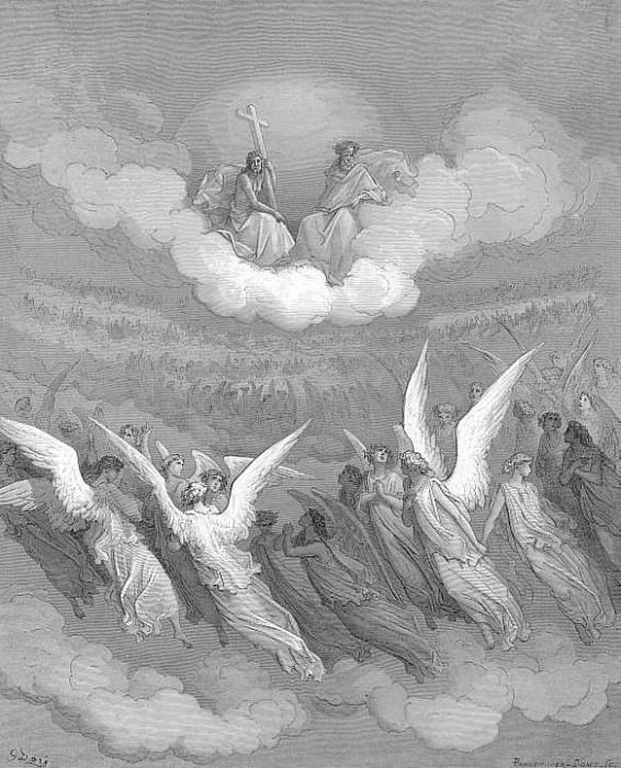 Heaven rung With jubilee and loud hosannas filled The eternal regions. Gustave Dore