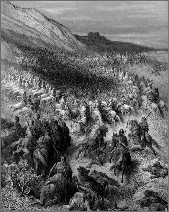 crusades surrounded by saladin. Gustave Dore