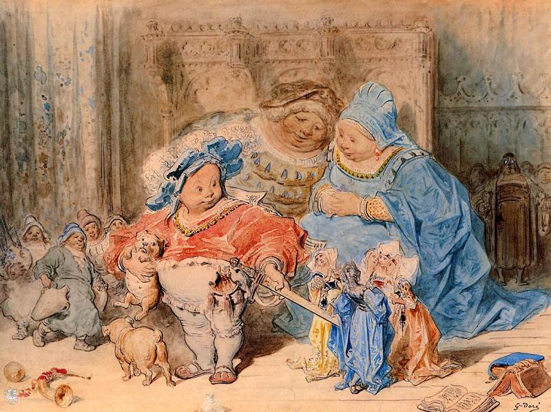 L enfance de Gargantua. Gustave Dore