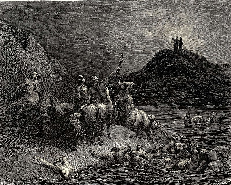 One cried from far -Say to what pain ye come condemn-d who down this steep have j. Gustave Dore