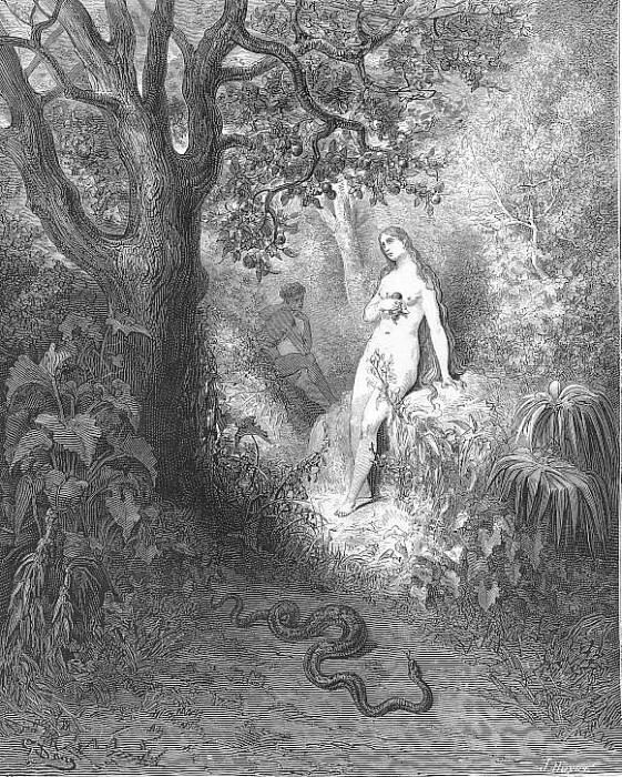Back to the thicket slunk The guilty serpent. Gustave Dore