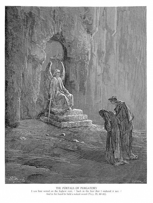 The Portals of Purgatory. Gustave Dore