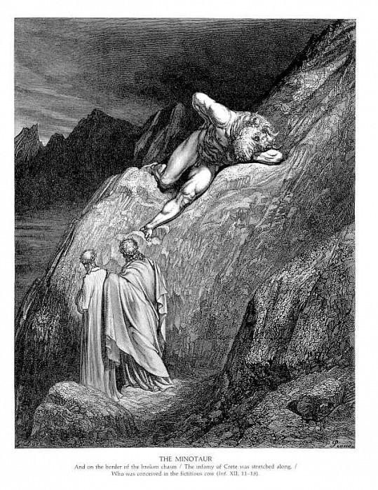 The Minataur. Gustave Dore