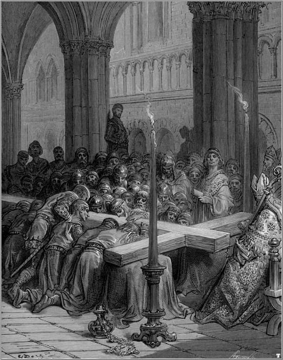 crusades discovery of true cross. Gustave Dore