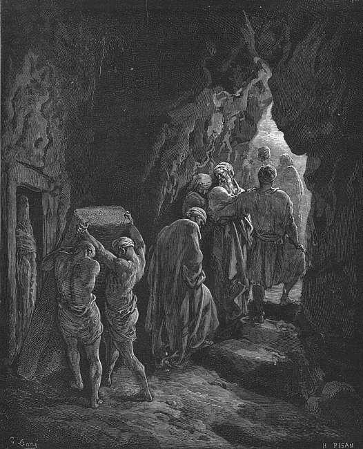 Bible 1866 The Burial of Sarah. Gustave Dore