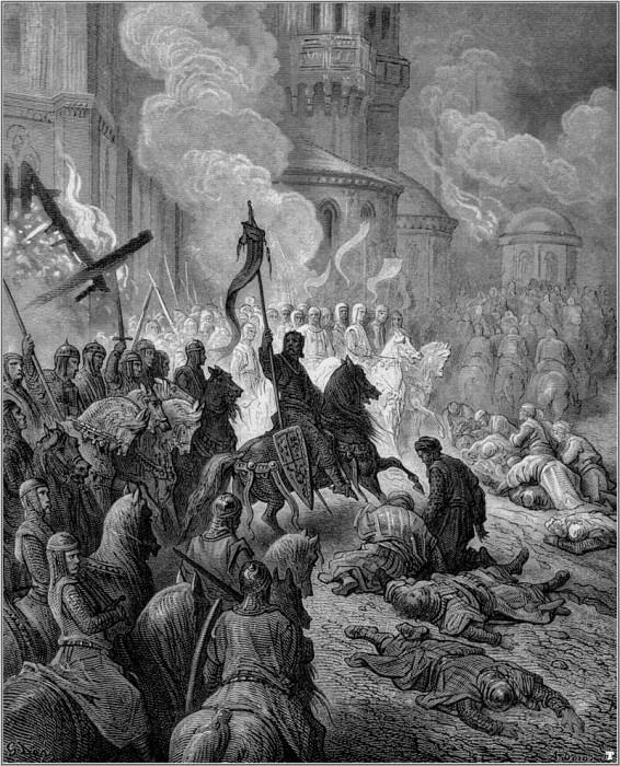 crusades entry into constantinople. Gustave Dore